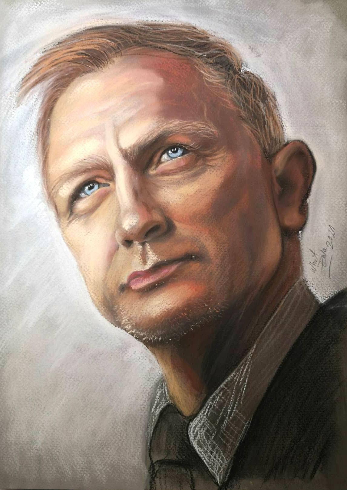 Portrait, Pastellkreide A3