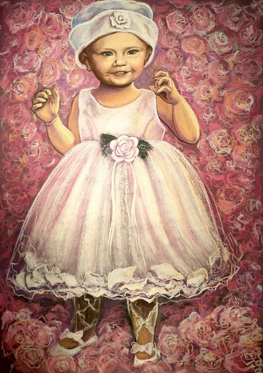 Portrait, Pastellkreide A1