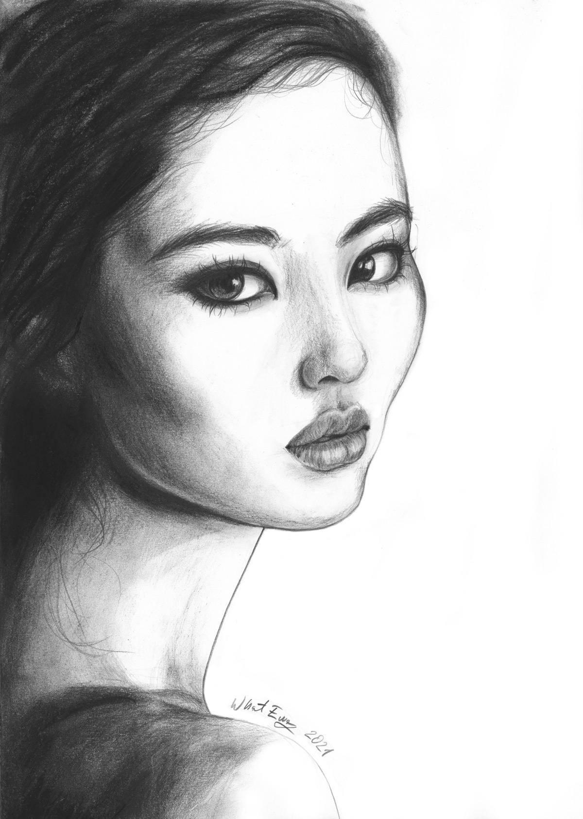 Kohle Zeichnung A3
