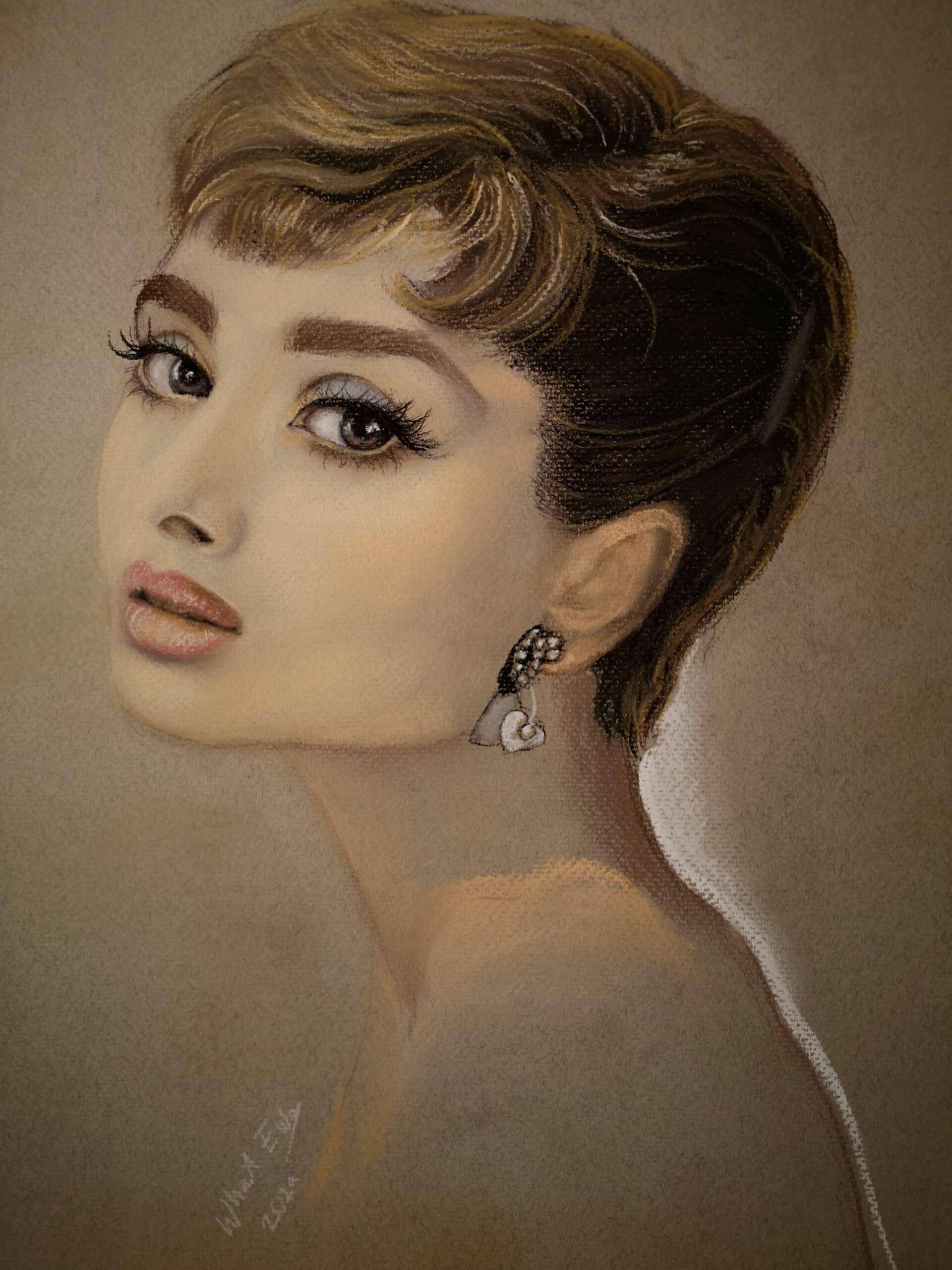 Portrait, Pastellkreide A4